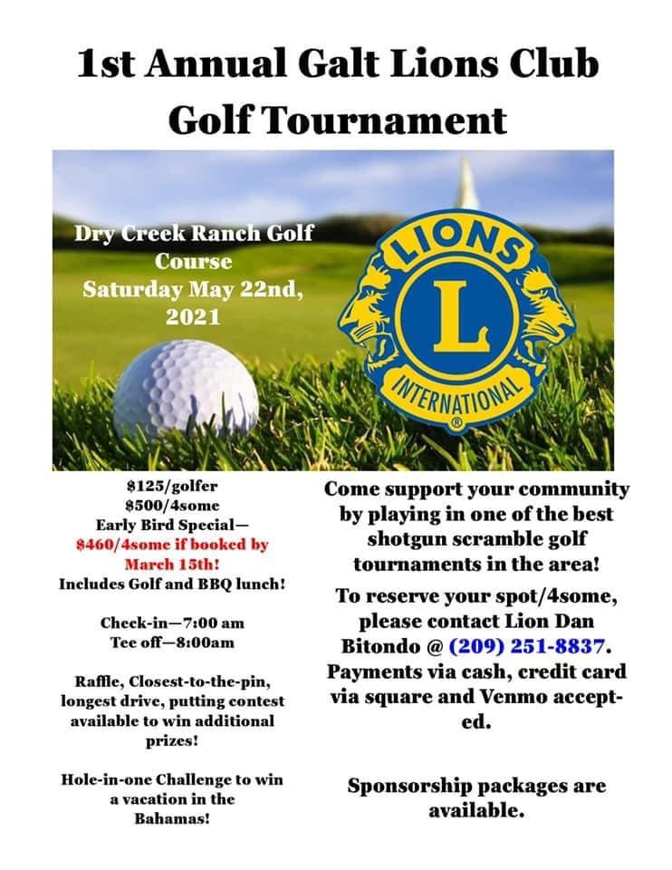 Galt Lions Club Golf Tournament @ Dry Creek Ranch Golf Course